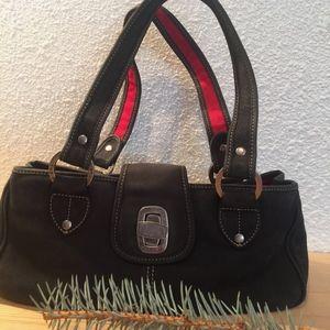 Charcoal gray The Sak Nubuck leather bag